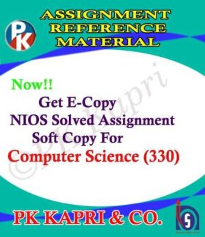 NIOS Computer Science 330 Solved Assignment 12th