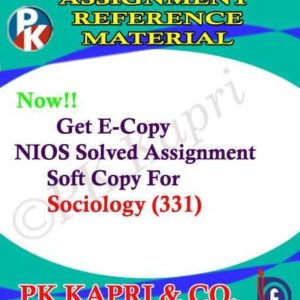 NIOS Sociology 331 Solved Assignment-12th