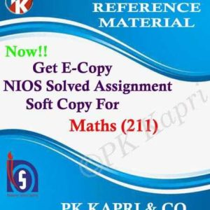 nios mathematics 211 Solved Assignment