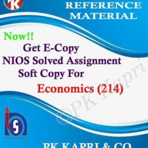 NIOS Economics 214 Solved Assignment