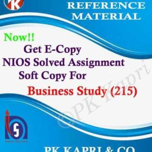NIOS Business Studies 215 Solved Assignment-10th-Hindi Medium
