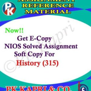 NIOS History 315 Solved Assignment 12th