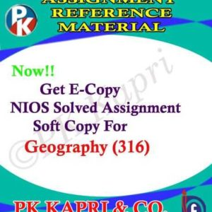 NIOS Geography 316 Solved Assignment 12th