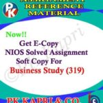 NIOS Business Studies 319 Solved Assignment