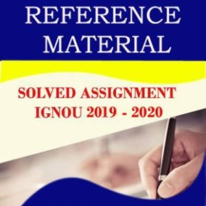 m.com ignou solved assignments 2020