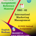 IGNOU IBO 2 INTERNATIONAL MARKETING MANAGEMENT SOLVED ASSIGNMENT IN ENGLISH