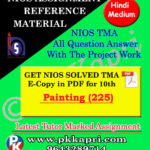 NIOS Painting 225 Solved Assignment-10th-Hindi Medium