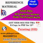NIOS Painting 332 Solved Assignment 12th Hindi Medium