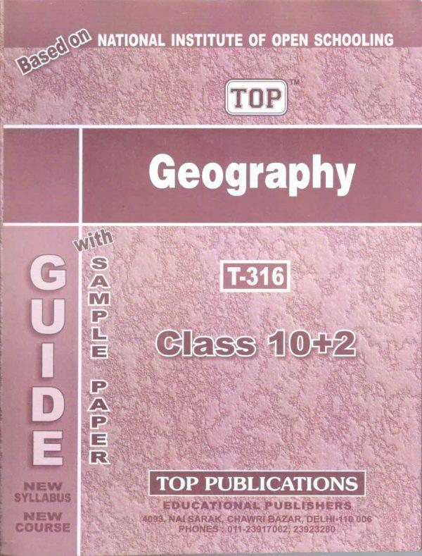 NIOS Geography 316 Guide Books 12th English Medium
