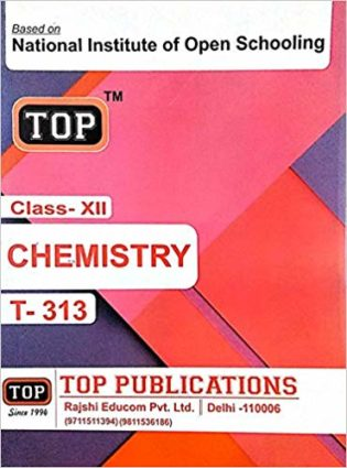 NIOS Chemistry 313 Guide Books 12th English Medium -Top -313