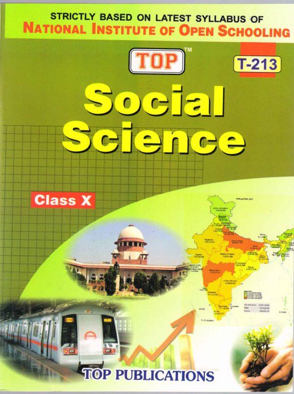 NIOS Social Science 213 Guide Books 10th English Medium