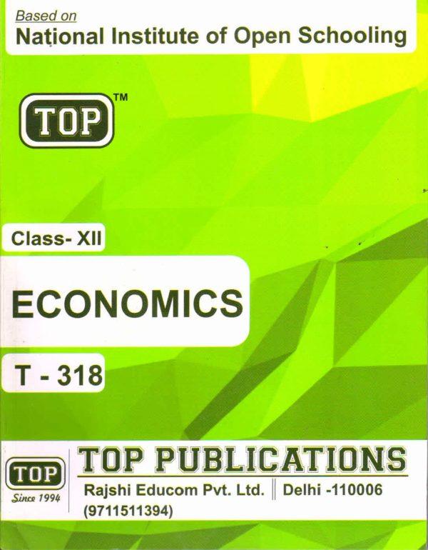 NIOS Economics 318 Guide Books 12th English Medium TOP-318