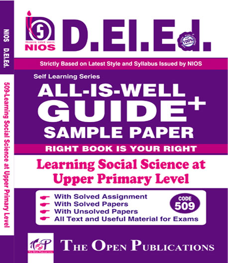 NIOS DELEd 509 Learning Social Science at Upper Primary Level English Medium