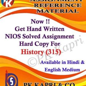 Handwritten Solved Assignment History 315