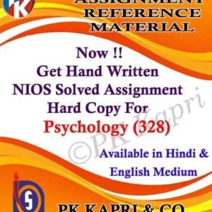 Handwritten Solved Assignment Psychology 328