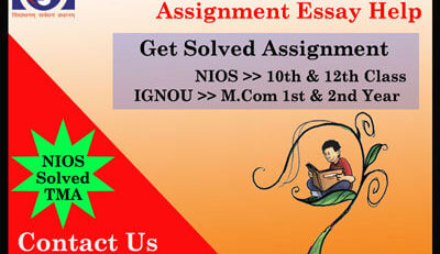 NIOS TMA Tutor Marked Assignment