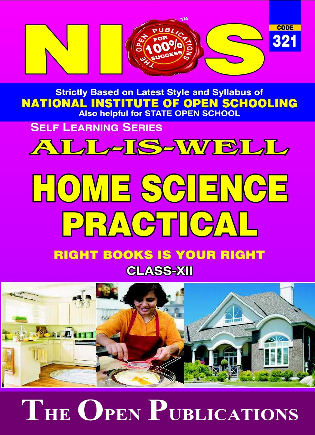 NIOS PRACTICAL MANUAL HOME SCIENCE 321 HELP BOOK IN ENGLISH MEDIUM