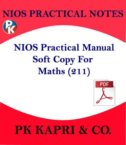 211 NIOS PRACTICAL MANUAL MATHEMATICS 211 NOTES IN HINDI MEDIUM -PDF