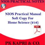 216 NIOS HOME SCIENCE 216 PRACTICAL MANUAL NOTES IN HINDI MEDIUM