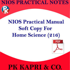 216 NIOS HOME SCIENCE 216 PRACTICAL MANUAL NOTES IN HINDI MEDIUM