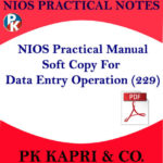DATA ENTRY OPERATIONS 229 NIOS PRACTICAL NOTES IN HINDI MEDIUM FOR SECONDARY