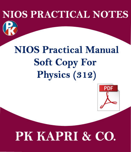 12TH NIOS PHYSICS 312 PRACTICAL MANUAL NOTES IN HINDI MEDIUM IN PDF