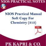 313 NIOS CHEMISTRY 313 PRACTICAL MANUAL NOTES IN HINDI MEDIUM IN PDF