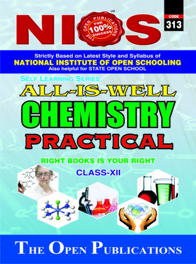 NIOS CHEMISTRY 313 PRACTICAL MANUAL HELP BOOK IN ENGLISH MEDIUM