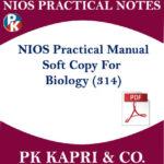 314 NIOS PRACTICAL MANUAL BIOLOGY 314 NOTES IN HINDI MEDIUM 12TH CLASS