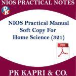 321 NIOS PRACTICAL MANUAL HOME SCIENCE 321 NOTES IN HINDI MEDIUM FOR 12TH