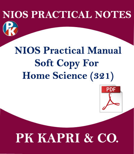 321 NIOS PRACTICAL MANUAL HOME SCIENCE 321 NOTES IN HINDI MEDIUM FOR 12TH