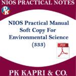 Environmental Science Nios Practical Laboratory Manual Notes for 12th Hindi Medium Pdf