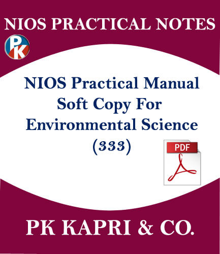 Environmental Science Nios Practical Laboratory Manual Notes for 12th Hindi  Medium Pdf