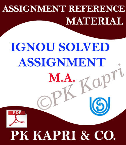Ignou MA Solved Assignment 2018-19 All Subjects