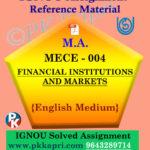 ignou mece 004 solved assignment english medium