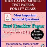Nios Model Test Paper Mathematics 311