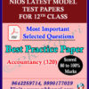 Accountancy -320-Nios Model Test Paper_12th English Medium (Pdf) with Most Important Questions