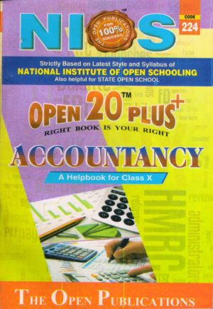 Nios Revision Book Accountancy (224) Open 20 Plus Self Learning Series English Medium