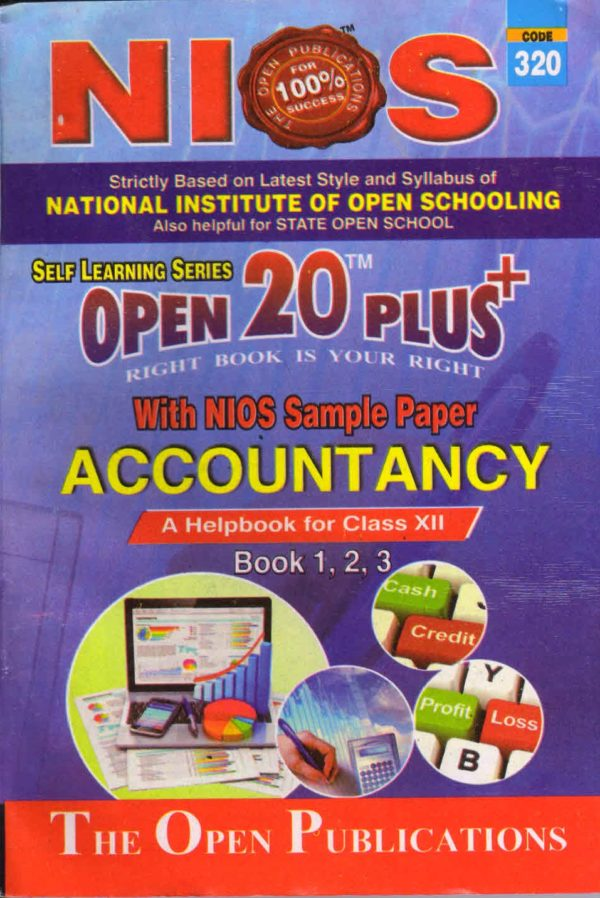 320 Accountancy (English Medium) Nios Last Time Revision Book Open 20 Plus Self Learning Series 12th Class