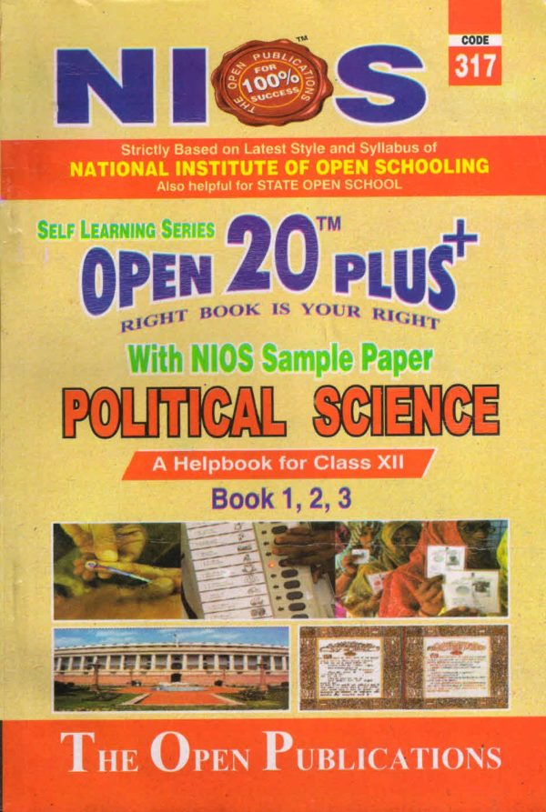317 Political Science (English Medium) Nios Last Time Revision Book Open 20 Plus Self Learning Series 12th Class