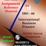 IGNOU MCOM IBO 06 INTERNATIONAL BUSINESS FINANCE-IGNOU SOLVED ASSIGNMENT (HINDI MEDIUM)