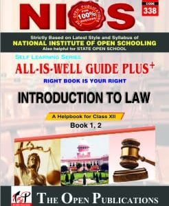 338 Introduction To Law Nios Guide Books (English Medium) Self Learning Series All Is Well Guide Plus Book
