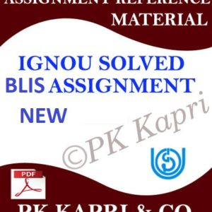 BLIS Solved Assignment