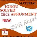 CBCS ASSIGNMENTS