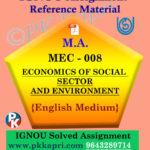 ignou mec 008 solved assignment english medium