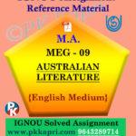 IGNOU Solved Assignment | MEG-09 AUSTRALIAN LITERATURE