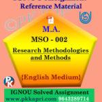 ignou mso 002 solved assignment english medium