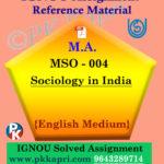 ignou mso 004 solved assignment english medium