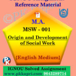 ignou msw 001 solved assignment english medium