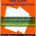 assignment-Sheet- Nios -Ignou